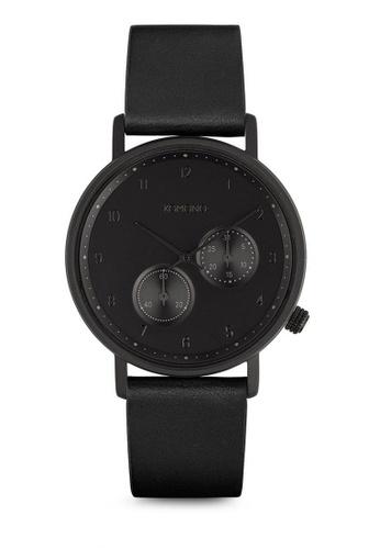 KOMONO black Walther Raven Watch KO163AC0T0U0MY_1