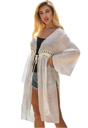 LYCKA white LTH4169-European Style Beach Robe-White FF7F4US3A0A921GS_1