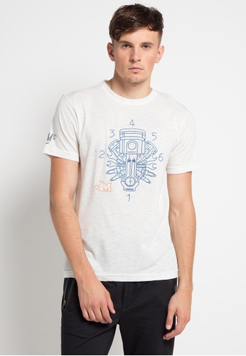 Jimmy Martin multi and beige T-Shirt Machina EA94BAA0B7F539GS_1