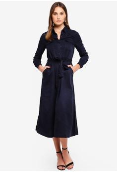 French Connection navy Tandy Lyocell Tie Waist Shirt Dress  1E1EBAA539B408GS 1 8d12f2bc7