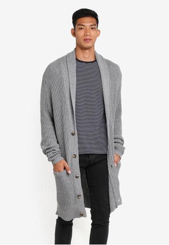 Cotton On grey Longline Cardigan 33F06AAF0D21F8GS_1