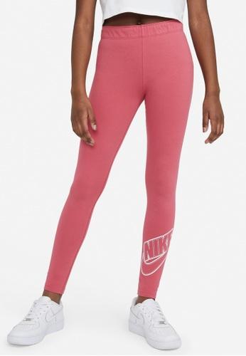 Nike red Girls' Sportswear Favorites Graphic Leggings BCC48KA8941AFAGS_1