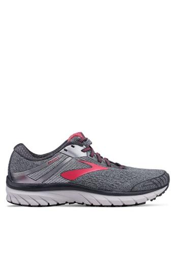 Brooks grey Adrenaline GTS 18 Shoes 69FBFSH748BF91GS_1