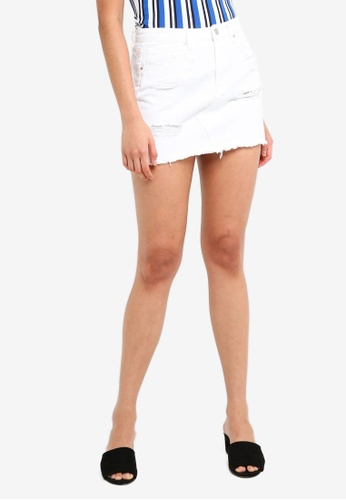 Supre white Winona Ultra Destroy Skirt 66D74AACCF0798GS_1