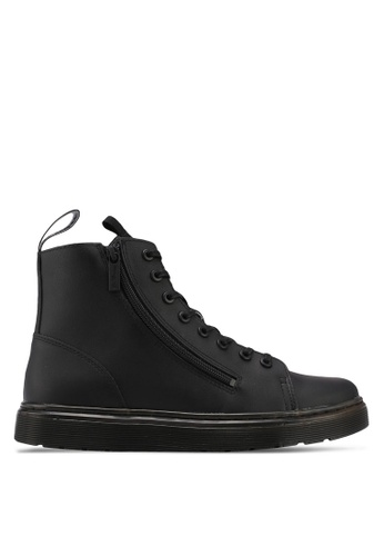 Dr. Martens black Vibe Ath Leisure Talib Zip 8 Eye Boots DR086SH0SX6HMY_1