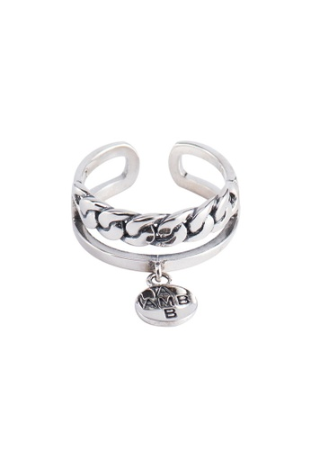 OrBeing white Premium S925 Sliver Braided Ring 08263AC776CDE9GS_1