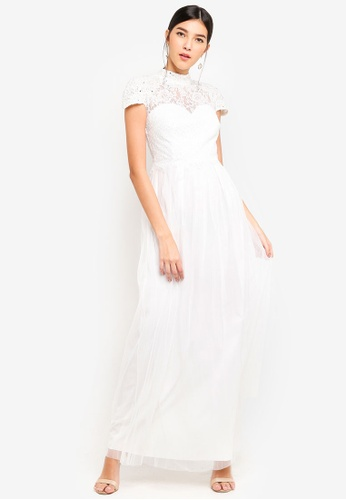 Little Mistress white White Lace Dress 57296AAE904907GS_1