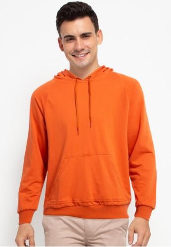Tolliver orange Pull Over Hoodies D58AEAAF007657GS_1