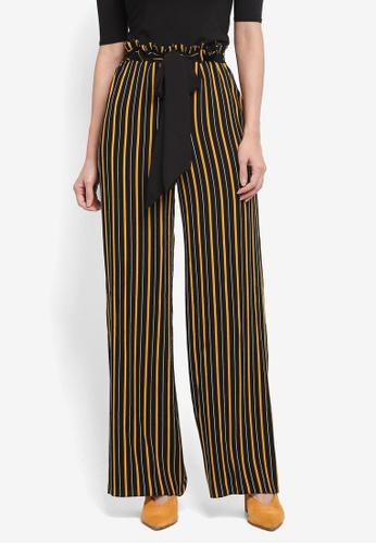 Miss Selfridge multi Tie Waist Stripe Trousers F3D76AA7213B5EGS_1