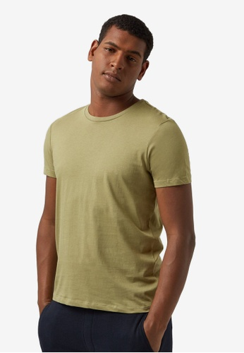 Burton Menswear London green Pistachio Green Short Sleeve T-shirt With Organic Cotton 4C605AA91F39E5GS_1