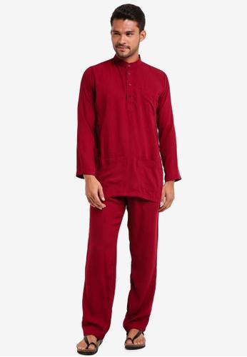 Lubna red Baju Melayu Cekak Musang 0B358AA116F358GS_1