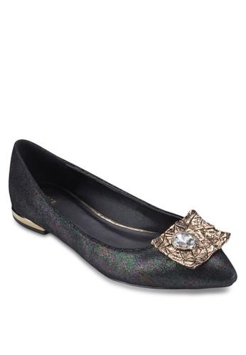 閃飾閃面尖頭平底鞋, 女鞋, 芭蕾esprit 衣服平底鞋