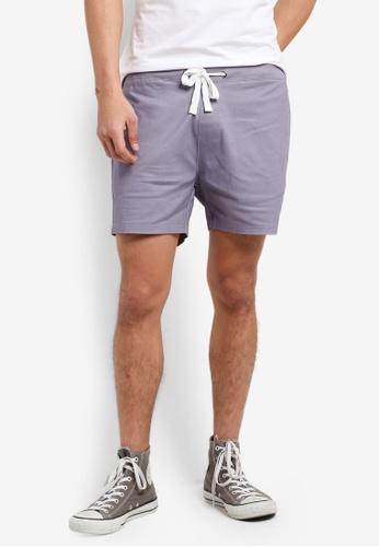 ZALORA grey Drawstring Easy Shorts 77F47AA760EC4EGS_1
