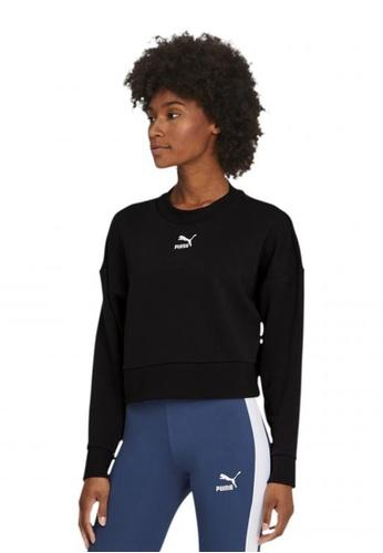 puma black Classics Cropped Women's Sweater 98FDDAA30854E9GS_1
