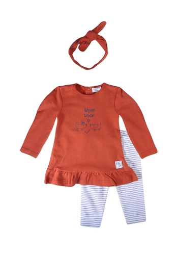 Babybol brown 2 Pieces Set With Hair Ribbon FA930KA15000B6GS_1