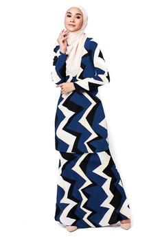 818baf25ee2 Imaan Boutique blue Bidadari Kurung Persian Blue 76E10AA41EE27BGS 1