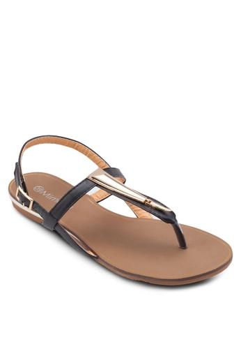 金esprit門市飾價值繞踝平底涼鞋, 女鞋, 涼鞋