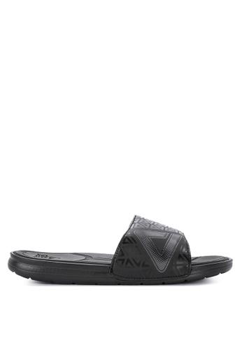 PEAK grey Icon Sports Slides Sandals 03569SH5124554GS_1