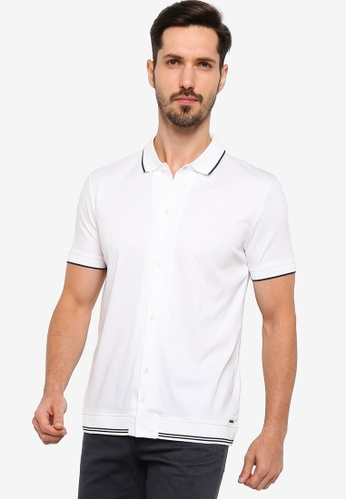 BOSS 白色 Puno 06 Polo Shirt 1B3DEAA7E93678GS_1