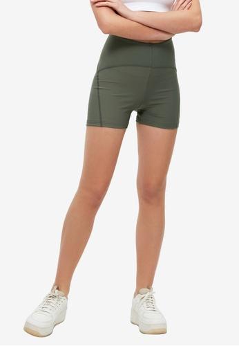 Trendyol green Overlock Sport Shorts 25A59AA81853E4GS_1