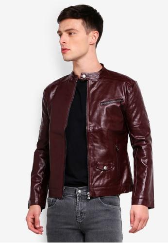 High Cultured 褐色 質感夾克 80E14AAC53E280GS_1