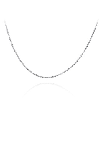 Glamorousky silver Simple Twisted Rope Necklace 1A6C2AC5C50BECGS_1