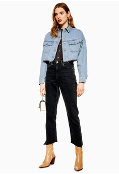367f7c753a67 TOPSHOP Hacked Denim Jacket S  96.90. Available in several sizes