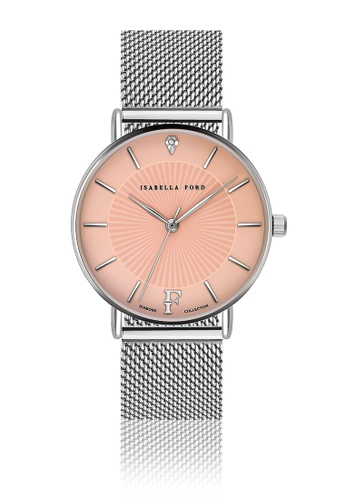 Isabella Ford pink Isabella Ford Allure Silver Mesh Women Watch 6D160ACA49A6C0GS_1
