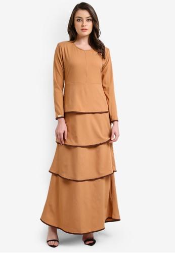 JubahSouq brown Valeria Dress 2.0 JU399AA0RTR7MY_1