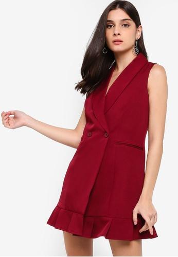 ZALORA red Blazer Dress 647DBAA4C24EAFGS_1