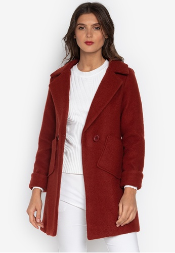 Well Suited red Wool Short Trench Coat BAB39AAD5A2EC9GS_1