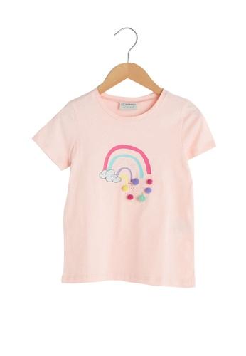 LC Waikiki pink Printed T-Shirt 43F33KA9533D61GS_1