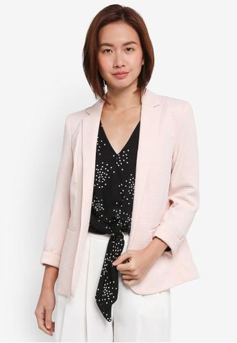 Wallis pink Petite Blush Ribbed Jacket 4C4F7AA918D1B0GS_1