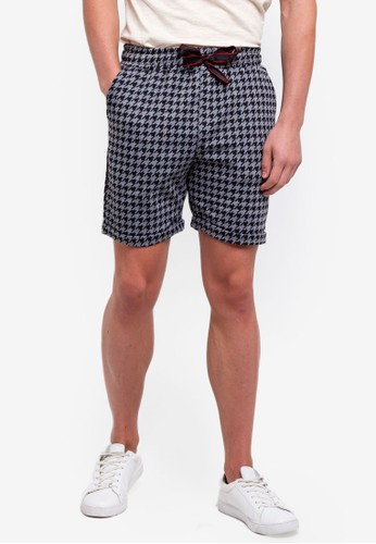 UniqTee grey Patterned Cotton Shorts With Drawstring EC426AA78D5FA1GS_1