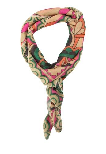 印花絲巾, 飾esprit outlet台北品配件, 披肩