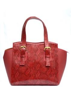 Agatha Shiny Snake Shoulder Bag