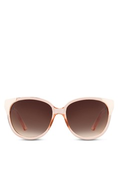 Transparent Rose Oversize Sunglasses