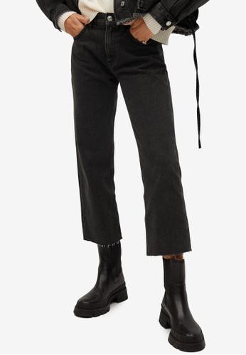 Mango grey Frayed Cropped Jeans A12CDAAD6EA8A6GS_1