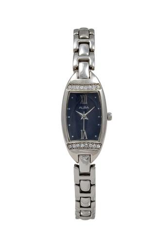 Alba silver ALBA Jam Tangan Wanita - Silver Dark Blue - Stainless Steel - AC3Q83 07E94ACEB6028DGS_1