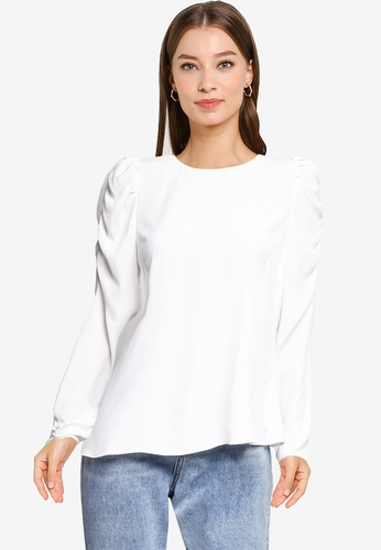Dorothy Perkins white White Sustainable Puff Sleeve Top 038EBAA90B8A21GS_1