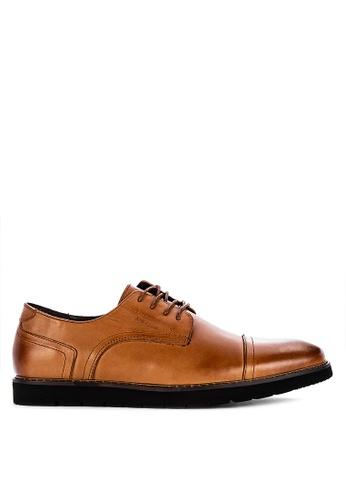 Alberto brown Formal Cap Toe Oxford Shoes 4A93ESH5E784B5GS_1