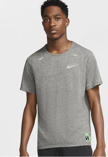 Nike grey Men's Rise 365 Future Fast T-Shirt 5224DAA61BDFAEGS_1