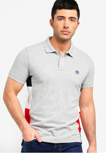 e44fe0e6 Tommy Hilfiger grey WCC TOMMY SIDE PANEL SLIM POLO 7E87FAA0832EF6GS_1