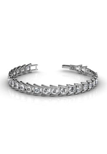 Her Jewellery silver Swarovski® Crystals - Simply Bracelet (18K White Gold Plated) Her Jewellery HE581AC0RALPMY_1