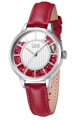 Lee Watches red Lee Watch Jam Tangan Wanita Lee Kulit Merah F17DSL4-7S LE027AC0VCOBID_1