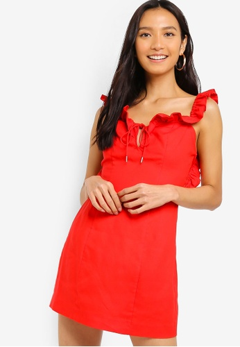 Finders Keepers red Aranciata Mini Dress 77643AA100DE3AGS_1