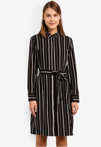 Selected Femme black Dusina Long Sleeve Dress SE157AA0SEDBMY_1