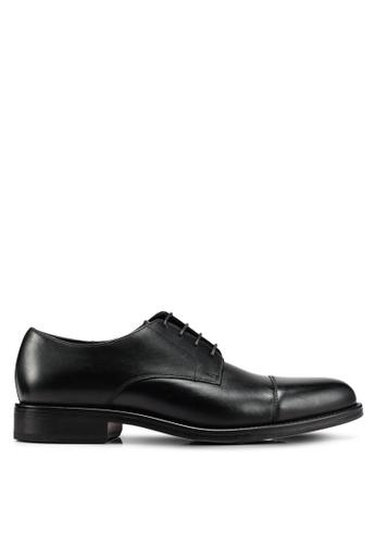 Mango Man black Leather Blucher Shoes 28193SHDBAE4E7GS_1