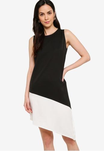 ZALORA WORK multi Colourblock Asymmetric Dress C9264AA73013D4GS_1
