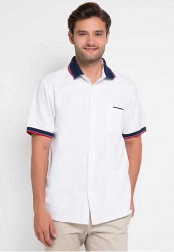 Contempo white Men Shirt S/S Casual CO339AA0UPRDID_1
